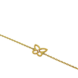 Gold Bracelet: Butterfly and a Diamond
