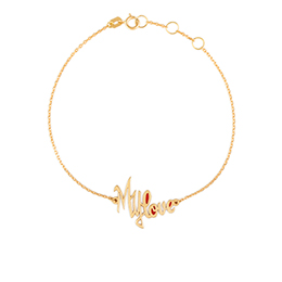 Gold Bracelet: My Love with Red Enamel