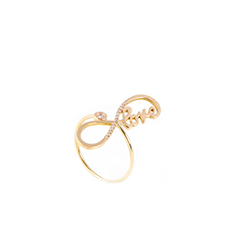 Gold Ring: Infinite Love with White Diamonds