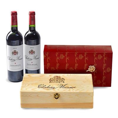 Wine: Chateau Musar, Red, Coffret Tendance, Wooden
