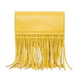 Bag: Leather Sunshine Clutch, Yellow
