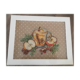 Box: Plexiglas, Cross Stitch, Pomme Cannelle
