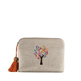Pouch: Tree of Life, Beige