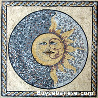 Marble Mosaic Geometric Design (MG 039)