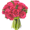 Flowers: 12 Fuchsia Roses (Think Pink)