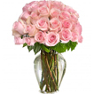Flowers: Pink Roses in a Vase (Rose Elegance)
