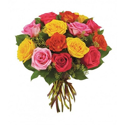 Flowers:  12 Mixed Roses (Rose Surprise)