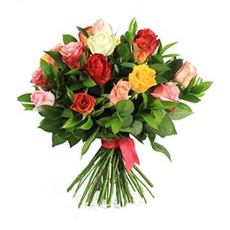 Flowers:  24 Mixed Roses (Rose Elegance)