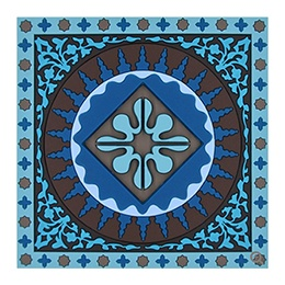 Coasters: Square, Mosaic Blue